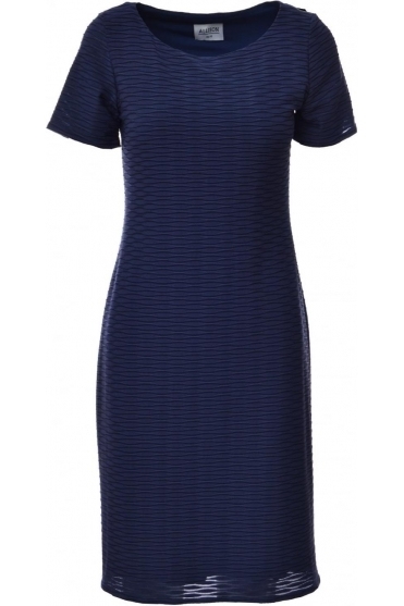 Textured Fleck Detail Dress (Navy) - 479001
