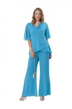 Two Piece Trouser Set (Turquoise ) - 2906