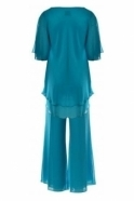 Allisons Two Piece Trouser Set (Turquoise ) - 2906