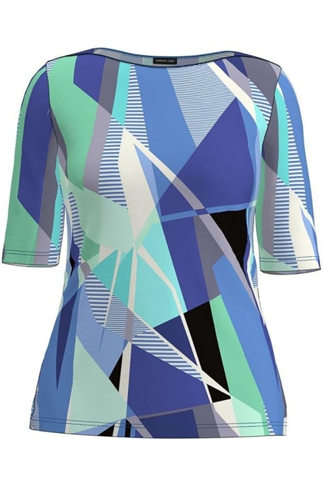 Barbara Lebek Abstract Print Top - Atlantic Blue - 75100012-76