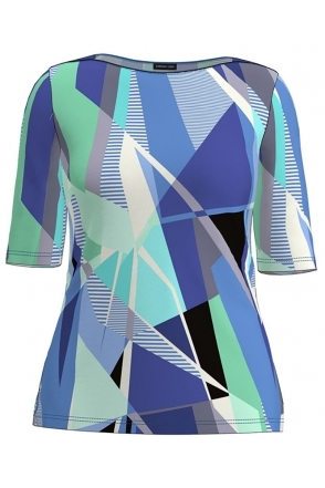 Abstract Print Top - Atlantic Blue - 75100012-76