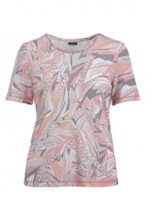 Abstract Print Top - Coral - 58590002-43