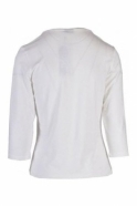 Barbara Lebek Circle Embellished Detail Top - Off White - 16150002-12