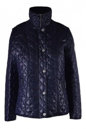 Diamond Quilted Jacket - Navy - 50690002-86
