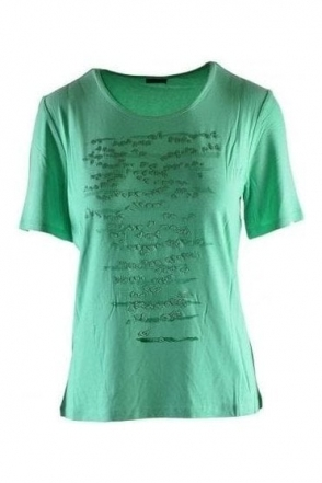 Embossed Abstract Print Top - Mint - 57660002-63