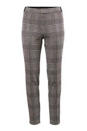 Glen Check Pull On Trousers - Black/Taupe - 15100002-34
