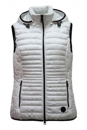 Hooded Quilted Gilet - White - 11830002-12