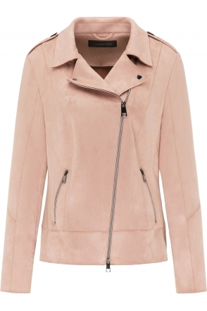 Inbetween Suede Effect Jacket - Rose Pink - 70420012-51