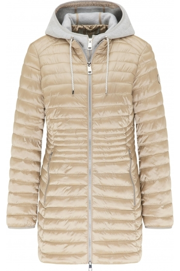 Lightweight Padded Two Tone Jacket - Cappuccino - 70520012-23