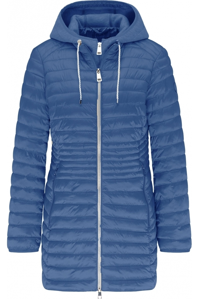 Barbara Lebek Lightweight Padded Two Tone Jacket - Denim Blue - 70520012-83