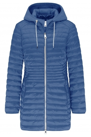 Lightweight Padded Two Tone Jacket - Denim Blue - 70520012-83