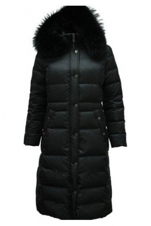 Longline Quilted Panel Coat - Black - 11300002-99