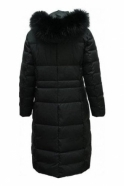 Barbara Lebek Longline Quilted Panel Coat - Black - 11300002-99