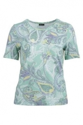 Paisley Print Top - Mint - 57550002-63