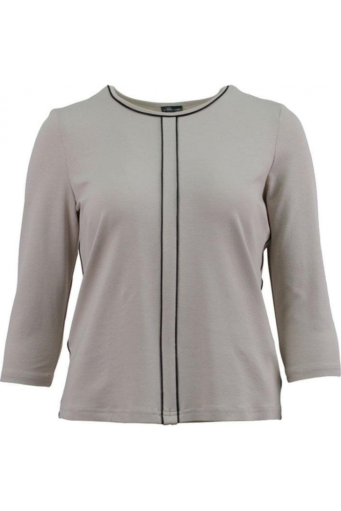 Barbara Lebek Panel Trim Top - Taupe - 15407102-23