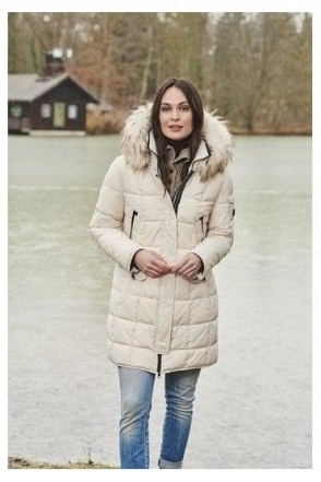 Quilted Panel Down Free Coat - Cream - 11000002-12