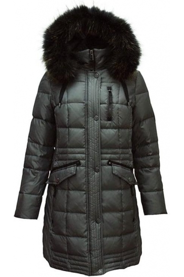 Quilted Panel Down Jacket - Graphite - 11230002-97