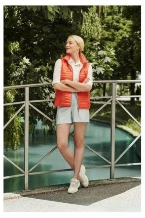 Quilted Panel Gilet - Coral - 50970002-44