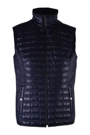 Quilted Panel Gilet - Navy - 50970002-86