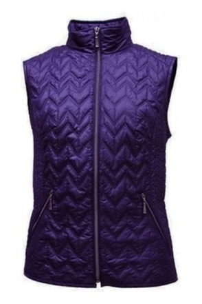 Quilted Panel Gilet - Purple - 11810002-03