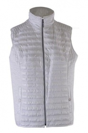 Quilted Panel Gilet - White - 50970002-01