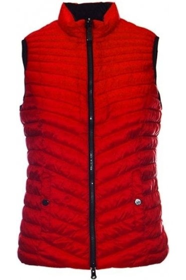 Reversible Down Free Quilted Panel Gilet - Red - 17320002-49