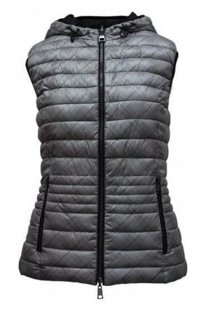 Reversible Hooded Quilted Gilet - Black/Grey - 11870002-96