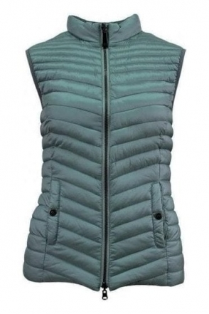 Reversible Quilted Panel Gilet - Sage Green - 16330002-61