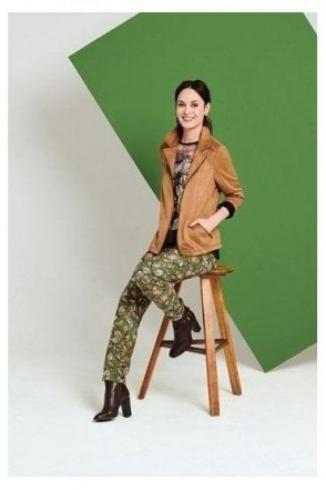 Suede Short Length Jacket - Taupe - 15010002-34