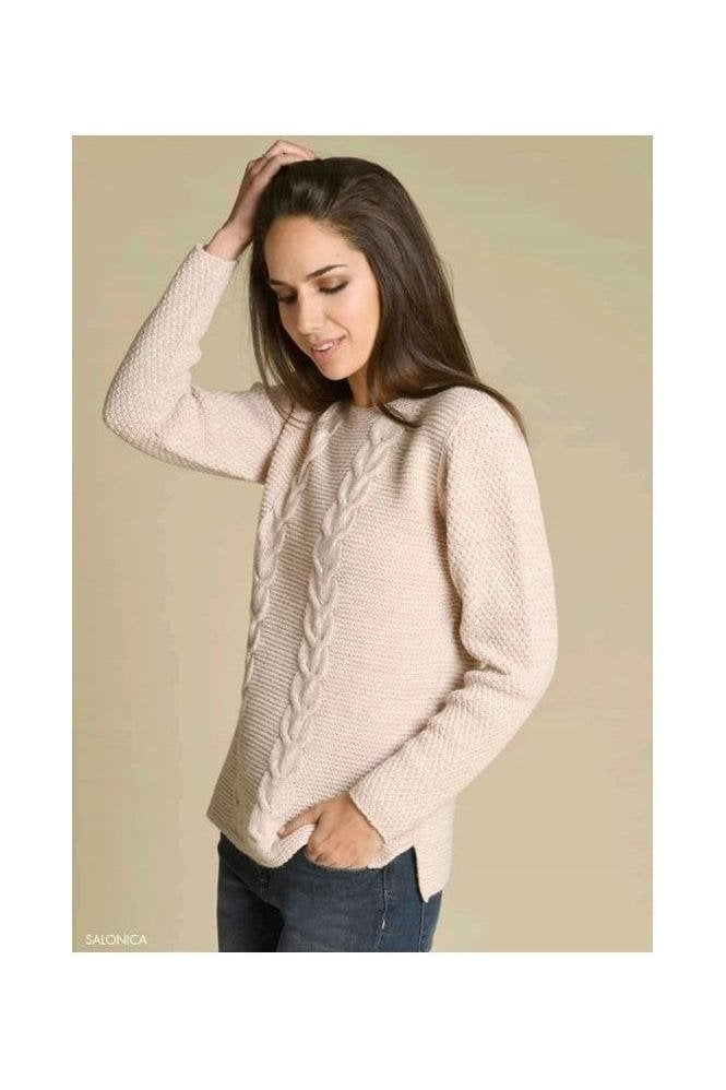 Bariloche Cable Knit Detail Jumper - Rose - Salonica