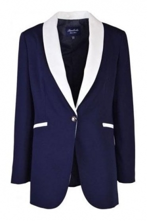Marchena Tailored Blazer - Navy - Marchena