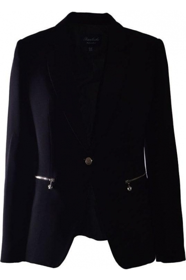 Tailored Tudela Blazer - Black - Tudela
