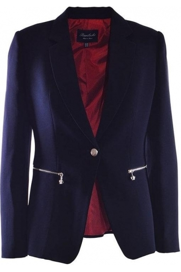 Tailored Tudela Blazer - Navy - Tudela