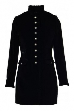 Velvet Frill Trim Escalada Coat