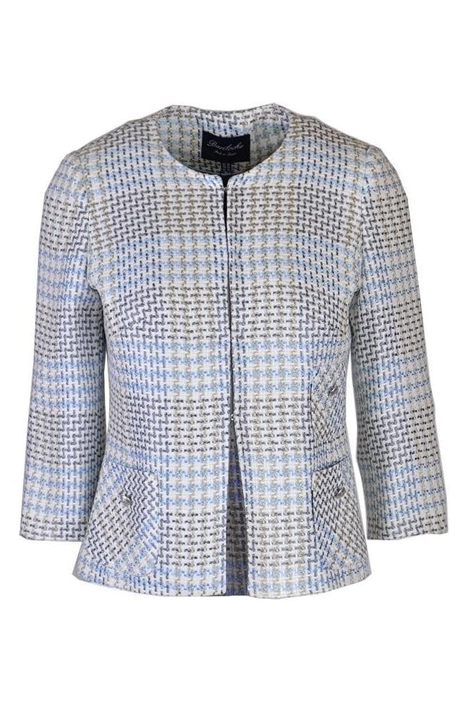Bariloche Woven Detail Short Real Jacket - Sky Blue - Real