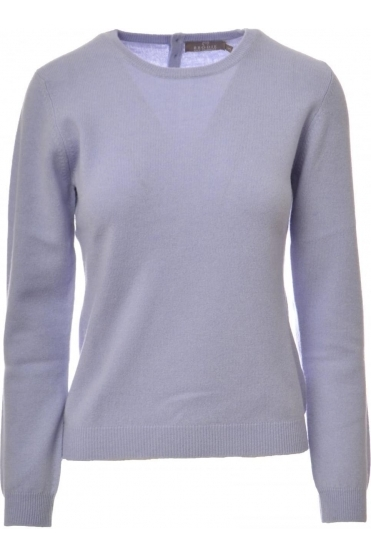 Cashmere Rolo Button Back Jumper - T1214-996