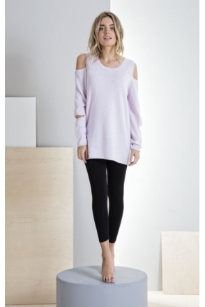 Cold Shoulder Malibu Cashmere Jumper - 1217-589