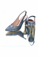 Capollini Camilla Shoe and Bag Set - Navy\White - Camilla Y119