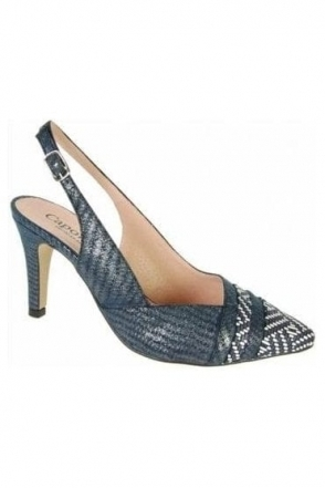 Camilla Shoe and Bag Set - Navy\White - Camilla Y119