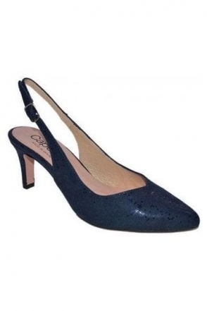 Catherine Shoe and Bag Set - Navy - Catherine E664