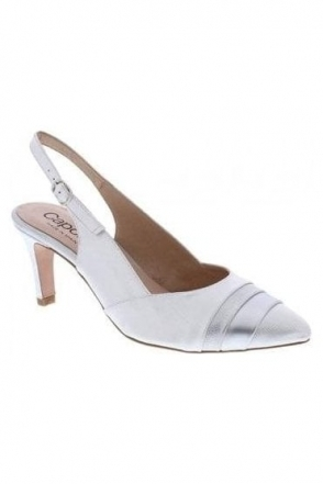 Laura Shoe and Bag Set - Silver - Laura H508