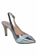 Capollini Lynette Shoe and Bag Set - Pewter - Lynette C517