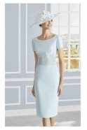 Couture Club by Rosa Clará Embroidered Detail Two Piece - Blue Water - 4G263