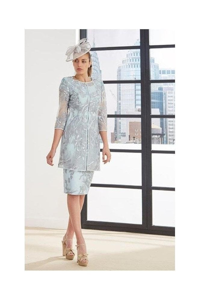 Couture Club by Rosa Clará Embroidered Detail Two Piece - Blue Water - 4G291