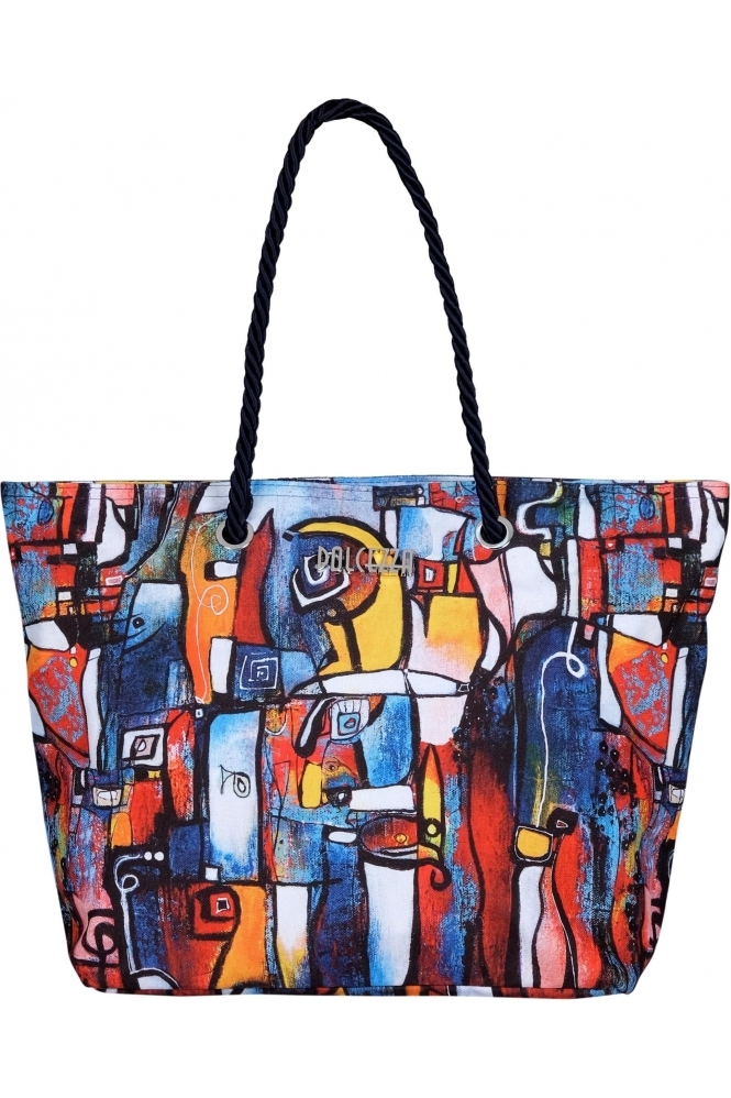 "Dolcezza ""It's Complicated"" Abstract Print Bag - Multi - 21952"