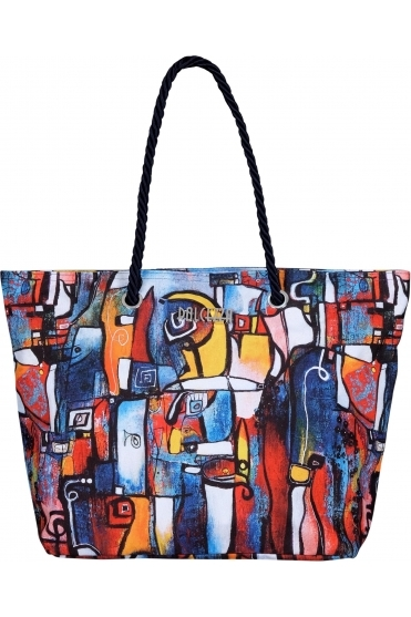 """It's Complicated"" Abstract Print Bag - Multi - 21952"