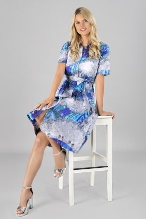 Mixed Marble Print Dress - Multi - 21686
