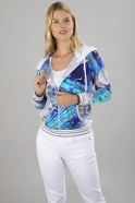 Dolcezza Mixed Marble Print Hoodie - Multi - 21683