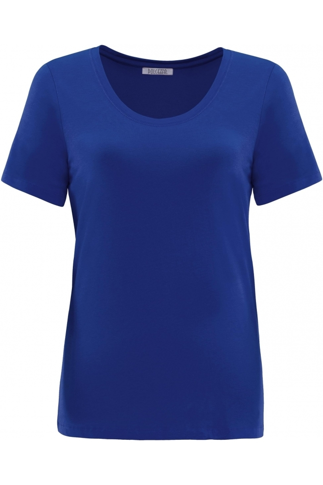 Dolcezza Round Neck T-Shirt - Royal Blue  - 21500