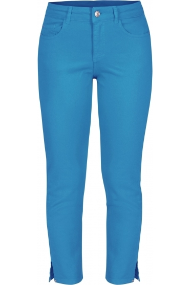 Soft Crop Length Jeans - Turquoise - 21202